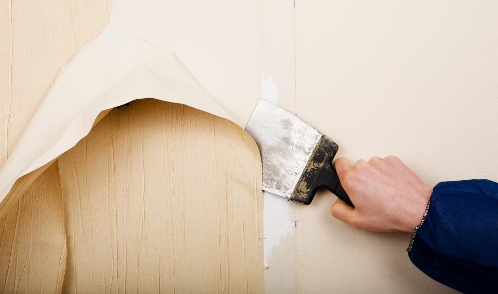 Quitar papel pintado de la pared